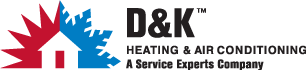 D & K Heating Service Experts Logo